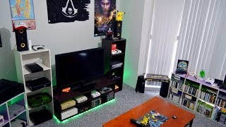 getlinkyoutube.com-My Gaming Room Home Theater Setup Tour 10-6-14