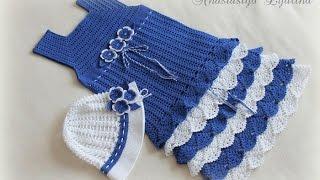 getlinkyoutube.com-Crochet Patterns| for free |crochet baby dress| 1525