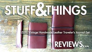 getlinkyoutube.com-Review: ZLYC Vintage Handmade Leather Traveler's Journal Set