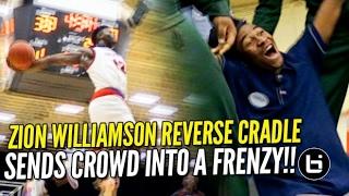 getlinkyoutube.com-Zion Williamson INSANE Cockback & Reverse Cradle Sends Crowd into a FRENZY! SCISA Rd. 1 Highlights!