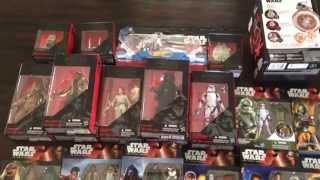 getlinkyoutube.com-Star Wars The Force Awakens Action Figure Haul The Black Series Kylo Ren & more!