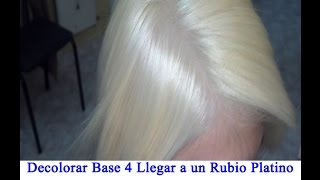 getlinkyoutube.com-Decolorar Base 4 Llegar a un Rubio Platino-Washout Base 4 Reaching a Platinum Blonde