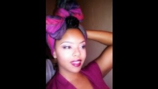getlinkyoutube.com-How To Wear a Headwrap | Turban Style and Bow Scarf