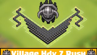 getlinkyoutube.com-Clash Of Clans - Village Hdv 7 Rush Master