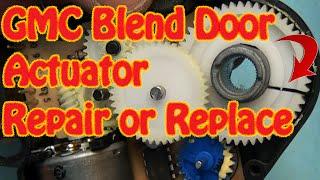 getlinkyoutube.com-GMC Chevy Blend Door Actuator Repair Replacement Fix Constant Heat Cracked Gear J-B Weld Repair