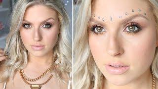 getlinkyoutube.com-Boho Inspired Makeup & Hair ♡ Natural Looking Skin w/ Freckles!