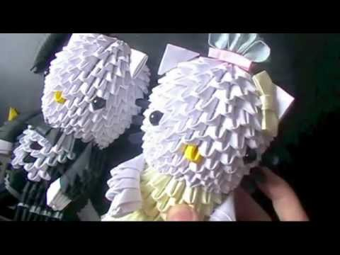 3Dorigami:hellokitty bride & groom pt 4 - head