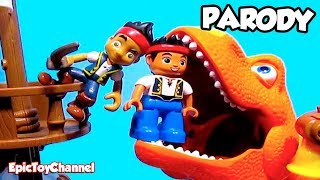 "getlinkyoutube.com-JAKE and the NEVER LAND PIRATES Parody [Disney Junior] Dinosaur Train ""Boris"" T-Rex + Bucky"