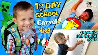 getlinkyoutube.com-CHASE'S 1st Day of SCHOOL! + Shawn's Old House Tour w/ Carvel Ice Cream (FUNnel Vision Vlog)