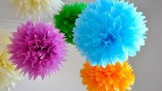 getlinkyoutube.com-Pompom de papel de seda - PAP