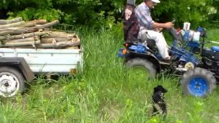 getlinkyoutube.com-Самодельный минитрактор. Вывоз дров по бездорожью.
