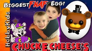 getlinkyoutube.com-Biggest Five Nights at Freddy's Adventure TOY SURPRISE Hunt! Chuck E Cheese + Family Fun HobbyKidsTV