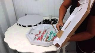 getlinkyoutube.com-Aula 50 - Como fazer bandejas com caixas de pizza