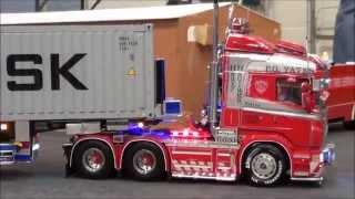 getlinkyoutube.com-RC Trucks @ Leyland, Tamiya. Scania, Mercedes, Volvo, MAN, Scaleart, Wedico, Carson, Servonaut