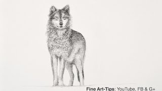 getlinkyoutube.com-How to Draw a Wolf With Pencil - Narrated, the easy way