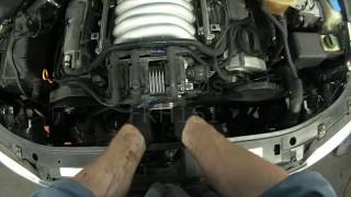 getlinkyoutube.com-Audi A4: ATQ V6 Timing Belt & Thermostat Removal