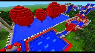 getlinkyoutube.com-Minecraft Wipeout - TOTAL WIPEOUT CHALLENGE with Vikkstar, Mitch & Rob (Minecraft Parkour)