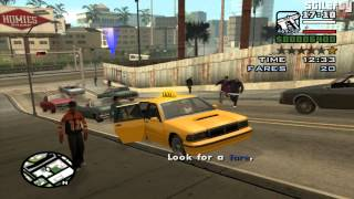 getlinkyoutube.com-GTA San Andreas - Taxi Driver [50 Fares]