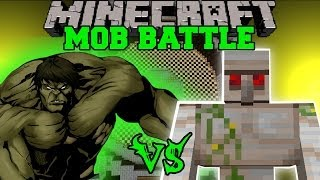 getlinkyoutube.com-HULK VS MUTANT IRON GOLEM - Minecraft Mod Battle - Mob Battles - Superheroes Mods