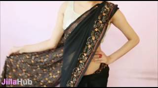 getlinkyoutube.com-How To Wear Saree Perfectly:Wrap Sari Step By Step In A perfect Way