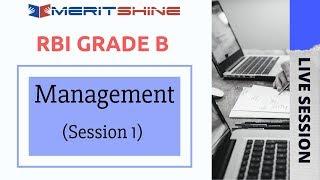 RBI Grade B - Management (Session-1)