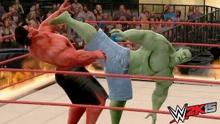 getlinkyoutube.com-WWE 2K15 - Hulk Vs Red Hulk - Fire Match (INFERNO)
