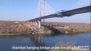Kota Hanging Bridge on Chambal River, longest cable-stayed #350 mtr in India