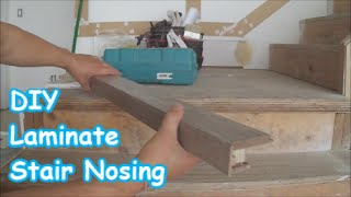 getlinkyoutube.com-Laminate Stairs: How to Make Stair Nosing Yourself Tips Mryoucandoityourself
