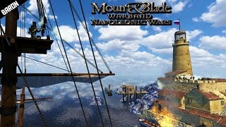 getlinkyoutube.com-Amphibious Port Assault! Mount and Blade Napoleonic Wars Gameplay