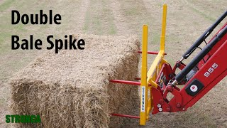 Stronga Double Bale Spike 390 - Heavy duty bale transport