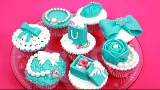 getlinkyoutube.com-Luxury TIFFANY Cupcakes - How To Make Cake Toppers by CakesStepbyStep