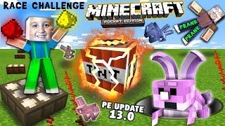 getlinkyoutube.com-The TNT Trapped Rabbit RedStone Glow Dust Race Challenge w/ Prank (FGTEEV Minecraft PE 0.13 Update)