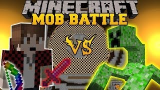 getlinkyoutube.com-BAJANCANADIAN VS MUTANT CREEPER - Minecraft Mod Battle - Mob Battles - Team Crafted Mod