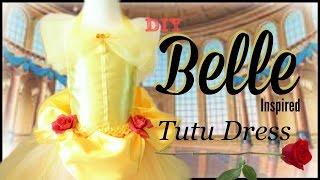 getlinkyoutube.com-Belle Costume Tutu Dress - DIY Tutorial