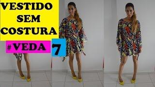 getlinkyoutube.com-#VEDA 7 VESTIDO SEM COSTURA por janaina pauferro