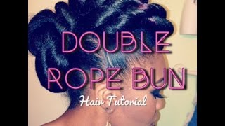 getlinkyoutube.com-Hair Tutorial: Double Rope Bun Updo