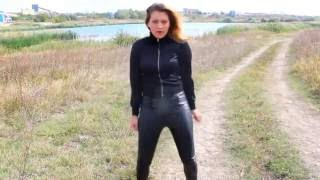 getlinkyoutube.com-Landscape Bangkok Dance in Wetlook Leggings