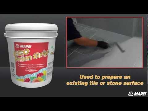 Видео - Грунтовка Mapei Eco Prim Grip / 5 кг- универсальная грунтовка (бетон-контакт)