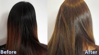 getlinkyoutube.com-How to dye asian hair brown 3 / How to do a root touch up