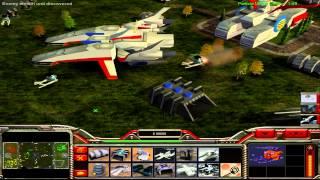 getlinkyoutube.com-C&C Generals: XenoForce 1.5 - Earth Forces General Skirmish Battle