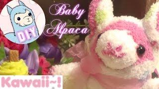 getlinkyoutube.com-Alpaca Baby Peluche Hechas con Calcetines o Medias Tutorial DIY/Baby Alpaca Sock Plush