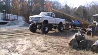 getlinkyoutube.com-FORD Cobra Jet 2.5 ton back yard truck  pulling