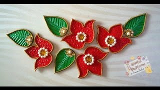getlinkyoutube.com-DIY - Flower kundan rangoli, How to make beautiful rearrangeable kundan rangoli