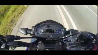 getlinkyoutube.com-Yamaha M-SLAZ MT-15 Xabre Top Speed 130Km/h | Automoto 2016