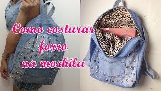 getlinkyoutube.com-Como costurar forro na mochila jeans - Diy - Suellen Redesign