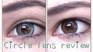 getlinkyoutube.com-Shiny grey circle lenses & Brown Circle Lens review & COUPON CODE PinkyParadise circle lenses review