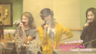 [Fancam] 101101 Yoona SNSD - My Best Friend@Kiss the radio(Sukira)