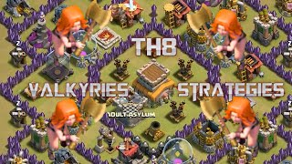 getlinkyoutube.com-Valkyries: Best TH8 War Strategy? Guide by Nio!