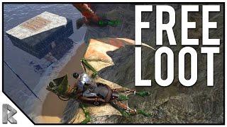 getlinkyoutube.com-LEFT HIS BOAT OPEN, FREE LOOT!  - Ark Survival Evolved Shigo Islands PVP #14
