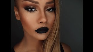 getlinkyoutube.com-START TO FINISH CONTOUR & SKIN BLACK VELVET LIP - SONJDRADELUXE